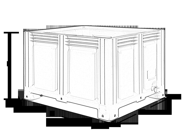 Closed pallet boxes