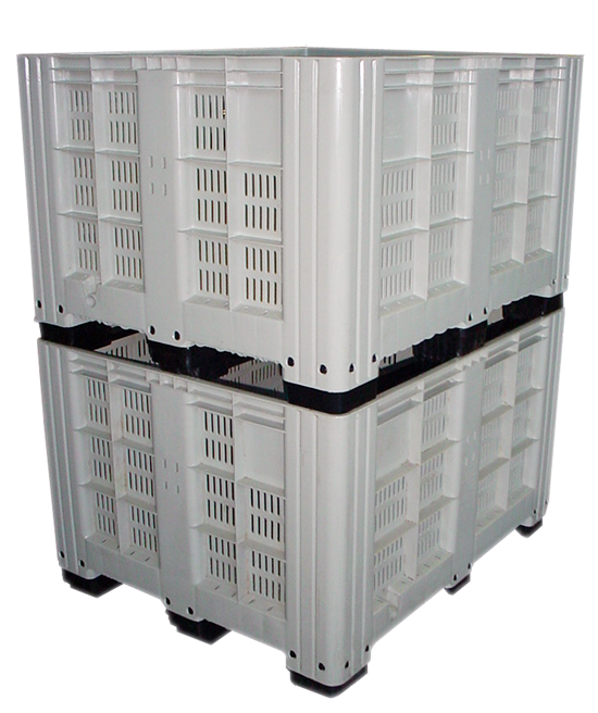 Perforated pallet boxes