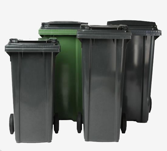 2 wheeled bins