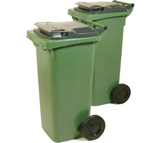 60lt low/high waste bins