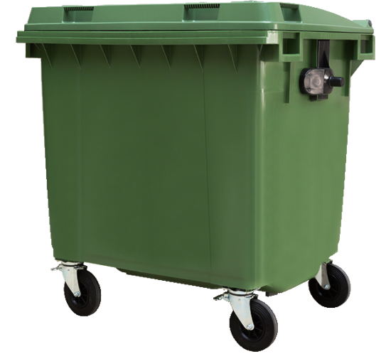 1100ltr flat top waste container