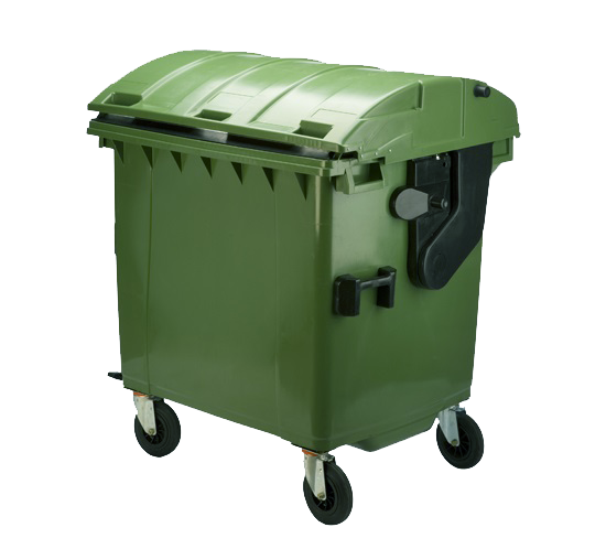 1100ltr roll top waste container